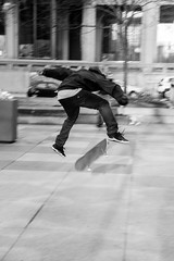 Skateboarder (fwjs) Tags: park city philadelphia downtown skateboarding cityhall skating skateboard skater lovepark philly skateboarder