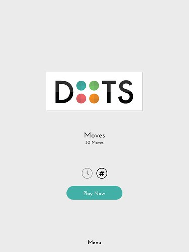 Dots: A Game About Connecting Main Menu: screenshots, UI