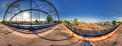 Modersohnbrücke (Nachtwächter) Tags: bridge panorama sun berlin sonne friedrichshain dri hdr modersohnbrücke tonemapping