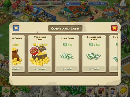 Township Virtual currency Bank: screenshots, UI