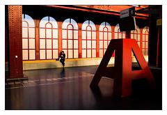 Antwerpen station (Punkrocker*) Tags: street city travel people color station digital fuji belgique x belgica couleur antwerpen anvers lr5 x100s