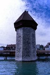 Water Tower (Bephep2010) Tags: bridge schweiz switzerland sony watertower luzern brcke lucerne wasserturm ch vierwaldstttersee chapelbridge lakelucerne kapellbrcke nex kantonluzern nex6 selp1650