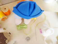 Com a agulha, passe a linha ao centro para franzir (Ateliê Bonifrati) Tags: cute diy bowtie craft gravata tutorial pap passoapasso bonifrati façavocêmesmo