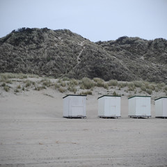 A la mer #53 (The smiling monkey) Tags: sea mer beach sand dunes sable huts plage cabines