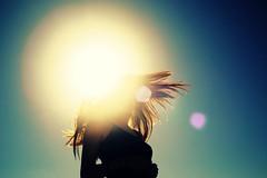 (Gianni Cumbo) Tags: blue light sky sun girl hair lens flip flare