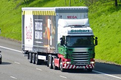 H6741 - PF13 HUP (Cammies Transport Photography) Tags: lauren beer grace eddie flyover scania m74 lockerbie stobart paljas r440