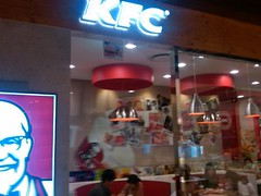 I rare EVER eat fast food at home but KFC taste amaaaazing in other countries...today was no different.