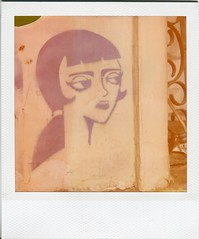 Stencil - Jofre 412 (hikaru86) Tags: chile santiago slr film vintage project polaroid sx70 graffiti stencil mural fuji arte jordan 350 cielo 600 instant abierto 690 70 86 680 sepulveda impossible hikaru sx instax plegable cámara callejero instantánea 779 hikaru86 jordansepulvedalazo