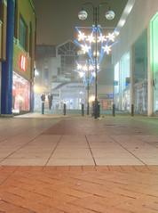 Crawley at night (JKS1988) Tags: county christmas west fog night mall sussex nikon adobe coolpix lush hm topaz lightroom crawley the martlets p6000 denoise