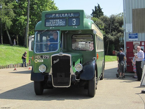ECW bodied Bristol LL5G HDL279 at IOW Bus Museum Running Day 18 May 2014