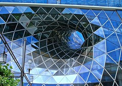 Architectural portal (cee live) Tags: blue architecture industrial commercial portal steelglass