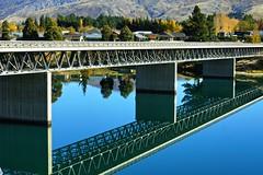 Reflecting Bridge (TravLav) Tags: newzealand reflection nz southisland aotearoa cromwell lakedunstan