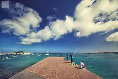 Fishing day ... (AndreaKamal.com) Tags: sea vacation holiday boats fishing fuerteventura canaryislands angler corralejo kanarischeinseln fishingday