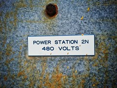 Power the revolution (... E M A ...) Tags: station sign rust power puertorico military adventure bolt base volts ceiba rooseveltroads