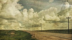 road pages (jssteak) Tags: road clouds canon vintage spring colorado afternoon pages grunge aged telephonepoles t1i