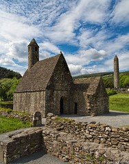 2014May28. Glendaloch. The Two Towers. (gerardcaffreys Images) Tags: ireland archaeology site christian glendalough wicklow monastic saintkevin glendaloch roundtower 6thcentury saintkevinschurch thevalleyofthetwolakes