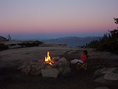 Campfire at Sunset (Life_After_Death - Shannon Day) Tags: life family pink camping sunset camp sky mountain mountains art children landscape fire photography death evening twilight day child purple dusk nevada watching sierra campfire shannon granite after lifeafterdeath shannonday lifeafterdeathstudios lifeafterdeathphotography shannondayphotography shannondaylifeafterdeath