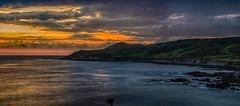Sun set in Woolacombe (Trigger1980) Tags: red sea sky water clouds seaside nikon rocks surf surfing devon land hdr woolacombe d7000 nikond7000