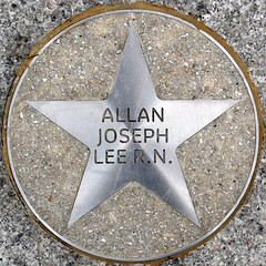 Allan Joseph Lee R.N. (chrisinplymouth) Tags: uk england metal circle star pavement plymouth devon round marker squaredcircle squircle royalparade trp pentagonal theatreroyalplymouth cw69x chrisinplymouth