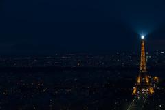 Eiffelturm (swissgoldeneagle) Tags: cloud paris france tower night clouds dark lights frankreich tour wolke wolken eiffel thunderstorm eiffelturm gewitter dunkel lichter dunkle d700