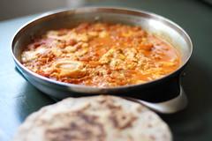 Shakshuka (anaclara_luppi) Tags: cheese tomatoes middleeast tomates queijo vegetarian eggs feta pita ovos shakshuka orientemdio comidavegetariana