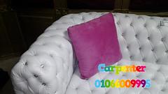 كنبة جلد كابتونيه - sofas Capitone - تصميم وتنفيذ نجار اثاث وديكور