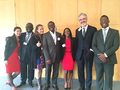 The speakers and event organisers at Barclays in London. With Sofie Sandell and George Twumasi