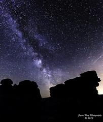 Combestone Tor by night. (Jason Way (JW Images)) Tags: sky night stars nikon rocks dartmoor milkyway d7000