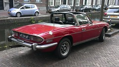 Triumph Stag Mk II (sjoerd.wijsman) Tags: auto red holland cars netherlands car stag nederland thenetherlands delft voiture triumph vehicle holanda autos import rood paysbas olanda fahrzeug niederlande roadster zuidholland carspotting redcars triumphstag tcar carspot sidecode4 pt29vf 67zfl1