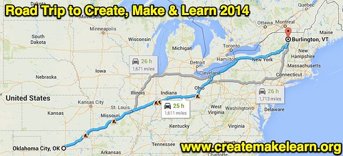 Road Trip to Create, Make & Learn 2014 by Wesley Fryer, on Flickr