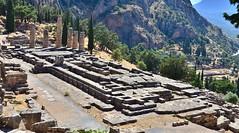 delphi. the temple of Apollo