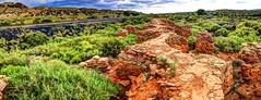 the ruins at Waldo, NM (JoelDeluxe) Tags: railroad brick clouds high ruins rocks skies desert kilns hills nm coal shrub joeldeluxe waldo hdr cerrillos cinders route14 santafecounty