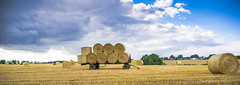 harvest is done (HHH Honey) Tags: summer lines clouds landscape farming harvest sigma crops trailer bales wiltshire farmmachinery chisbury sonya850 sigma2470lens