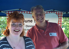 Financial Administrative Assistant Sharon Weiman and Board Member Tim Sager