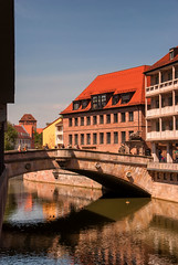Fleischbrucke (Smiley Man with a Hat) Tags: bridge germany deutschland bavaria spring nuremberg altstadt nurnberg brucke 2014 pegnitz fleischbrucke fleischbridge