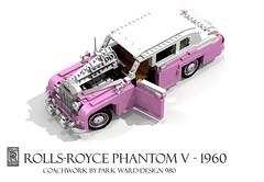 Rolls Royce Phantom V…Strawberry Flavor (lego911) Tags: auto park classic car john model strawberry lego 5 render gap rollsroyce buddy v rolls 1960s ward phantom sir elton generation challenge royce cad lugnuts neapolitan 1960 81 povray moc ldd generationgap miniland lego911