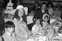 (vintage ladies) Tags: blackandwhite people portrait wedding 70s southampton woman lady female colinvokes 1972 ladies women