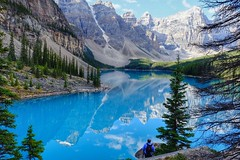 Lake Moraine Canada (linwujin) Tags: canada lakemoraine rockymountain mountain rock pine green blue fujifilm xt1 xf1655 landscape nature nationalpark banffnationalpark banff