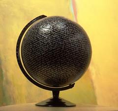 The World According to Philip Larkin & Pablo Neruda (LenCowgill) Tags: len cowgill art globe poetry writing pablo neruda philip larkin