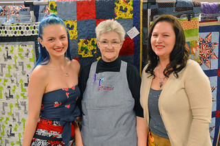 Three generations of quilters