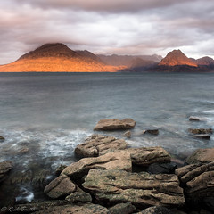Stepping stones to the Cuillins (evorichie101) Tags: elgol skye isle landscape seascape sunrise moutains sea nikon