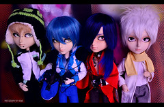 DMMd Boys! | Taeyangs Customs (·Kumo~Milk·^^) Tags: taeyang taeyangs aoba aobaseragaki koujaku noiz clear mio makeitown makeup alberic batman obitsu doll dolls junplanning groove cosplay dmmd dramaticalmurder dramaticalmurdercosplay anime yaoi bl boyslove eyelashes eyechips rechipped rewigged wig carving gloss custom customs uke seme piercings piercing karinscustoms hash