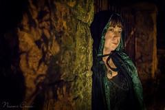 naomi170411-180-Edit-2 (Naomi Creek) Tags: portrait woman girl cape velvet hood stone wall gate iron night mysterious heart pendant light character selfportrait selfdiscovery magical fairytale