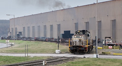 Blooms on the move. (Dave McDigital) Tags: applebyfrodingham industrialrailway industriallocomotive scunthorpe steelworks britishsteel mak di8 bobo diesel