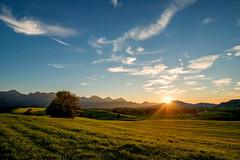 Sonnenuntergang im Allgäu (impossiblejoker) Tags: sonnenuntergang sunset allgäu bayern bavaria berge mountains alpen alps nikon