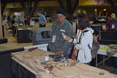 Su JinLing Makes the Rounds (jjldickinson) Tags: nikond3300 105d3300 nikon1855mmf3556gvriiafsdxnikkor promaster52mmdigitalhdprotectionfilter longbeach worldwoodday longbeachconventioncenter dtlb sujinling sculptor woodcarver carving wood