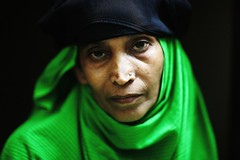 Haleema's Plea (N A Y E E M) Tags: haleema distant relative burqa hijab portrait green today afternoon home rabiarahmanlane chittagong bangladesh availablelight indoors