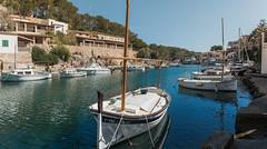 Cala Figuera 0054-Pano (Sebas Adrover) Tags: baleares balearicislands balears barca boat calafiguera españa illesbalears mallorca mar mediterranean mediterrani mediterráneo port puerto santanyí sea spain es