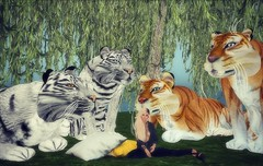 WK Wild Kajaera Extreme Gentle Giant Tigers in Second Life (Beautiful Braveheart) Tags: wkwildkajaera wildkajaera wkcats breedable bigcat bigcats beautifulbraveheart bengal bogor secondlife sl sumatran sumatrantiger extreme gentlegiant pet
