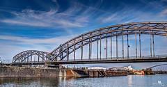 Deutschherrnbrücke (or German Royal Bridge) (creati.vince) Tags: architecture creativince frankfurt germany mainhattan bridge